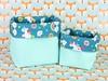 Cestinho em corino verde e tecido com unicórnios (vojacy) Tags: cestinho decoração quartodobebê quartoinfantil organização quartodecriança feitoàmão decoraçãoinfantil unicórnio arcoíris