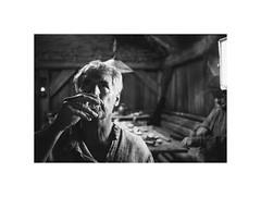 The spirit (Jan Dobrovsky) Tags: monochrome portrait 50mm kodaktrix400t pub people indoor thepaintedbirdmovie human blackandwhite leicam6 summilux village analog document