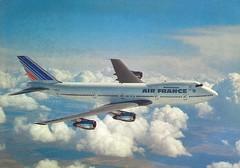 Postcard Air France B-747-228BM F-BPVS (mugicalin) Tags: boeing boeing747 b747 b747428 airfrance fbpvs flugzeug plane cartepostale postcard razglednica oldpostcard ansichtkaart postkard cartoline cartolina aircraft années70 1977