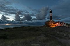 Caravan (Aaron Springer) Tags: michigan northernmichigan lakemichigan thegreatlakes bigsablepointlight dune clouds lighthouse twilight bluehour september outdoor landscape