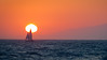 Sailing the High Seas (Joe Ascioti) Tags: santamonicabeach los angeles sail boat ocean sea sky skyporn sun sunset mountains blue orange red pacific leica r 135mm f28 1980 vintage lenses