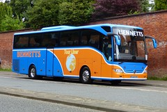 Bennetts BJ16 KYB Chichester 7/8/17 (jmupton2000) Tags: bj16kyb travels gloucester gloucestershire mercedes benz tourismo coach bennetts