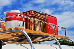 Retro Picnic (Hi-Fi Fotos) Tags: vw bus roof rack vintage cooler coleman jug cocacola picnic gear retro wicker basket barbecue party summer fun americana nikon d7200 50mm dx hififotos hallewell