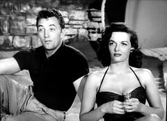 "Robert Mitchum and Jane Russell in ""His Kind of Woman"" (1951) (stalnakerjack) Tags: janerussell hiskindofwoman hollywood robertmitchum"