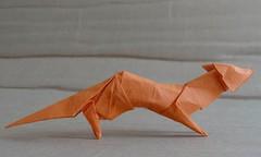 Fox by  Hideo Komatsu   [Hideo Komatsu challenge 19/50] (Orizuka) Tags: origami fox hideokomatsu washipaper hkchallenge