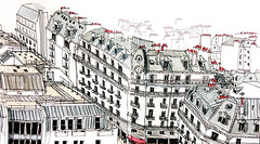 Paris' roofs (velt.mathieu) Tags: paris sketch croquis building architecture mathieuvelt
