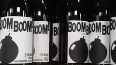 Boom Boom! wine (Adventurer Dustin Holmes) Tags: 2017 boom boomboom winebottles winelabel wine alcohol beverage drink drinks bomb syrah washingtonstate 2015 2014