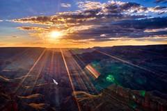 Grand Canyon sunset (Jim Nix / Nomadic Pursuits) Tags: jimnix nomadicpursuits travel sony sonya7ii grandcanyon arizona sunset sunburst canyon landscape hdr aurorahdr2017 luminar macphun 24240mm cloudy clouds beautiful stunning sunflare