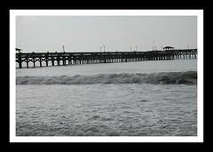 Myrtle Beach Pier (mialilly234) Tags: pier water waves beach myrtlebeach southcarolina frame border vacation travel monochrome blackwhite blackandwhite outdoor outdoors ocean nikon nikond40