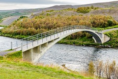 Old bridge over Fnjoska Iceland (Einar Schioth) Tags: bridge brú fnjoska fnjoskadalur fnjóská fnjoskardalur autumm autummcolors trees tree river water day sky summer canon clouds cloud coast vividstriking nationalgeographic ngc nature landscape photo picture outdoor iceland ísland einarschioth