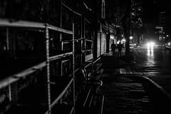 sometimes it gets more dark than usual / empty street tired feet (Özgür Gürgey) Tags: 2017 35mm bw d750 darkcity nikon perşembepazarı samyang lines lowlight night street istanbul