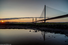 Mersey Gateway Crossing (andyyoung37) Tags: merseygatewaycrossing runcorn cheshire rivermersey sunsetreflections england unitedkingdom gb