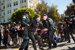 protest theater 3 (Adrienne Johnson SF) Tags: antifascist alamosquare 2017 sanfrancisco protest protesttheater arrest