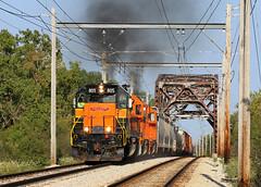 CSS 805 @ Chicago, IL (Michael Polk) Tags: chicago south shore bend railroad emd sd382 gp382 freight train calumet river bridge kensington eastern
