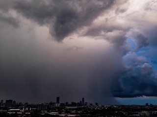 Rainclouds passing over Boston