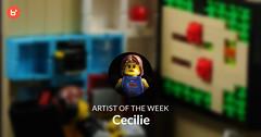 Artist of the Week: Cecilie (bricklyHQ) Tags: artistoftheweek brickart brickly vignette interiordesign videogames anime minifigs legominifigures afol moc