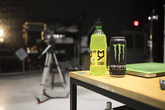 0831 Mellow Yellow and Monster in the studio working late