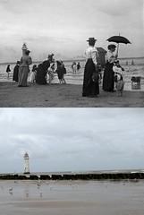 New Brighton Beach, 1889 and 2017 (Keithjones84) Tags: birkenhead wallasey merseyside wirral thenandnow rephotography newbrighton