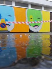 Cheltenham paint festival 2017 (DJLeekee) Tags: cheltenham paint festival mydogsighs idiom graffiti puddles weather streetart