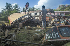 The Bus Abattoir (Photosightfaces) Tags: bus abattoir disassemble dismantle scrap salvage buses sri lanka lankan men galle