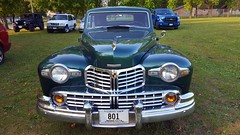 1947 Lincoln Continental Front View (rabidscottsman) Tags: scotthendersonphotography car vehicle mn minnesota farmingtonminnesota thursday vintage classic beautiful amazing green dakotacountyfairgrounds 1947 lincoln lincolncontinental parkinglot parked luxury geotagged twincities chrome classiccar crest samsung galaxys6