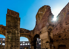 Colosseum Rome Italy (Daveyal_photostream) Tags: colosseum italy vacation travel rome sunset nature historic bluesky stone sand arches meandmygear mygearandme mycamerabag d600 nikon nikor photoshop lightroom ruins arch lensflare