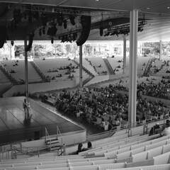 Ballet Rehearsal at the Amphitheater (Matt0513) Tags: ballet rehearsal practice dance amphitheater chautauqua institution new york arts rolleicord vb tlr 120 6x6 medium format film fujifilm neopan acros 100