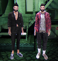 You got me addicted (Levi Megadon // *OMG*) Tags: sl secondlife men mens blog blogger look lotd outfit event mesh new locktuft hair menshipsterevent mhe hipster street cool urban swag dope fresh clothes fashion style deadwool beard facial meva rings balkanik20 vens sneakers represent hoodie flannel sweatshirt shorts baggy loose valekoer beezy lowtop poses ap anaposes taikou background backdrop