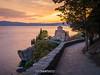 P9080140 (Eric Santucci) Tags: church orthodox stjohn theologian kaneo ohrid macedonia olympusepm2 sunset path tree lake river golden water svetijovan panasonic20mmf17