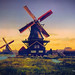 Digital+Oil+Painting+of+Two+Windmills+in+Holland+by+Charles+W.+Bailey%2C+Jr.