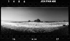 Man in Water 17093217 (jimhairphoto) Tags: oregon widelux panorama japancamerahunter jch streetpan 400 infrared 35mm film blackandwhite blancetnoir schwarzeaufweis blancoynegro blancinegre siyahrebeyaz jimhairphoto