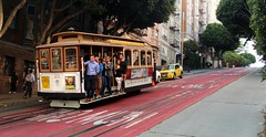 Only in SAN FRANCISCO (Prayitno / Thank you for (12 millions +) view) Tags: konomark icon iconic cable car tram sf sfo san francisco trolley outdoor street road hill activity people public transportation transit ca california
