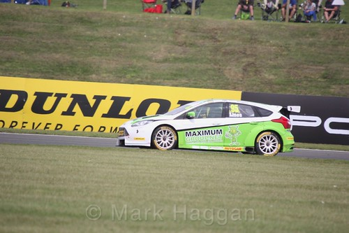 Stewart Lines in BTCC action at Snetterton, July 2017