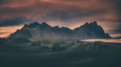 Vestrahorn (Andrew G Robertson) Tags: vestrahorn panorama stokksnes iceland dawn red mountain batman sunrise sunset peninsula