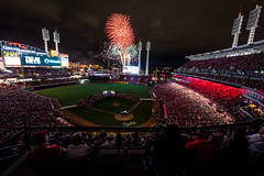 The Best Time With My Dad (Icedavis) Tags: red reds cincinnati ohio baseball stadium ballpark fireworks flo rida concert night long exposure music band artist group great american