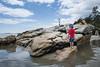 """I love this beach!!!!"" (grilljam) Tags: seawallbeach ocean july2017 summer staycation seamus 5yrs nonnie beach unspoiled thetideisin"