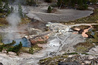 View from Above:  Artists' Paint Pots, Norris Junction, Grand Loop, Yellowstone National Park, Wyoming