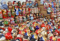 Russia (Moscow) Plenty of matryoshka dolls (ustung) Tags: russia moscow gift souvenir present memory doll matryoshka