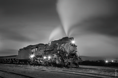 Before work ... 1/22/2017 (N.Batkhurel) Tags: steamlocomotive steam locomotive sandaoling railway railfan china xinjiang mining bw trains trainspotting ngc nikon nikondf nightshot