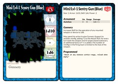 Mini-Lvl-1 Sentry Gun (Blue) Statcard (Gunnery) (septentrion.legatus) Tags: lego ldraw tf2 brikwars tabletop wargaming engineer sentry gun statcard weapon gunnery