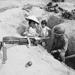 VIETNAM WAR 1973 - Family Visiting Father in Trench thumbnail
