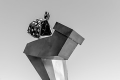 Metal Worker (chris_esler2000) Tags: chrisesler hasselblad blackandwhite highcontrast metal sculpture vancouver washington