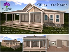 Thistle Gilley Lake House - Builder's Box - August 2017 (Liz Gealach) Tags: thistlehomes buildersbox secondlife sl lizgealach home house cottage lake gilley decor prefab decorate deco builders box