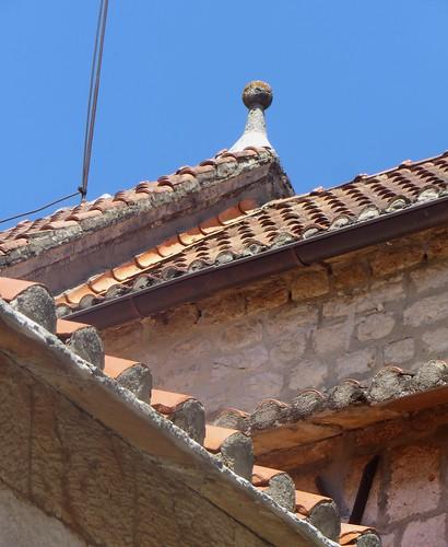 Lignes de tuiles, Stari Grad, île de Hvar, comitat de Split-Dalmatie, Croatie.