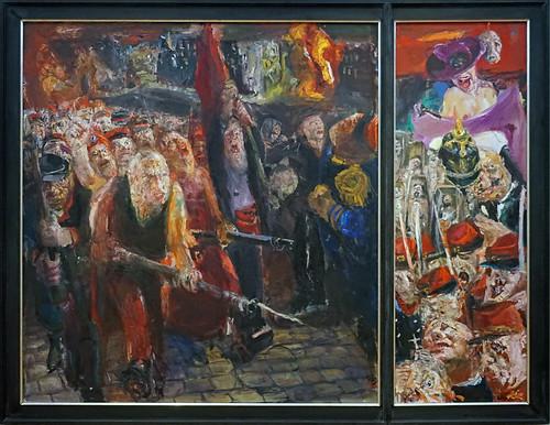 """Une rue pendant la Commune"" de Berhhard Heisig (Musée Barberini, Potsdam)"