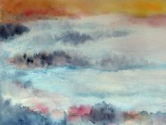 Yesterday (Ker Kaya) Tags: fog landscape lagoon fz200 panasonic kerkaya dmcfz200 blue beach white nature iceland ice iceberg icelandic island islande glacier frozen frost fdekerkaya aquarelle watercolor painting watercolour art