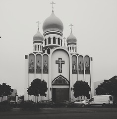 (sftrajan) Tags: russianorthodox church gearyboulevard sanfrancisco église chiesa iglesia therichmond filter dome oniondome slavs russiandiaspora blackandwhite
