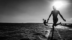 Ortigia Island, Siracusa, Sicily - Italy (DiSorDerINaMirrOR) Tags: sonyalpha south sonyalpha6000 sony siracusa sicily sicilia kids play seaside sea water september sunset summer ortigia italia italiancoast italien italy
