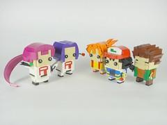 Prepare for trouble, and make it double ! (YOS Bricks) Tags: pokémon lego brickheadz ash satoshi misty kasumi brock takeshi james kojiro jessie musashi