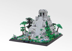 Ancient Temple (W. Navarre) Tags: lego mesoamerican temple ruins hidden secret mayan inca lor